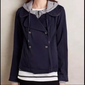Anthro Hei Hei Layered Solin Jacket Size S